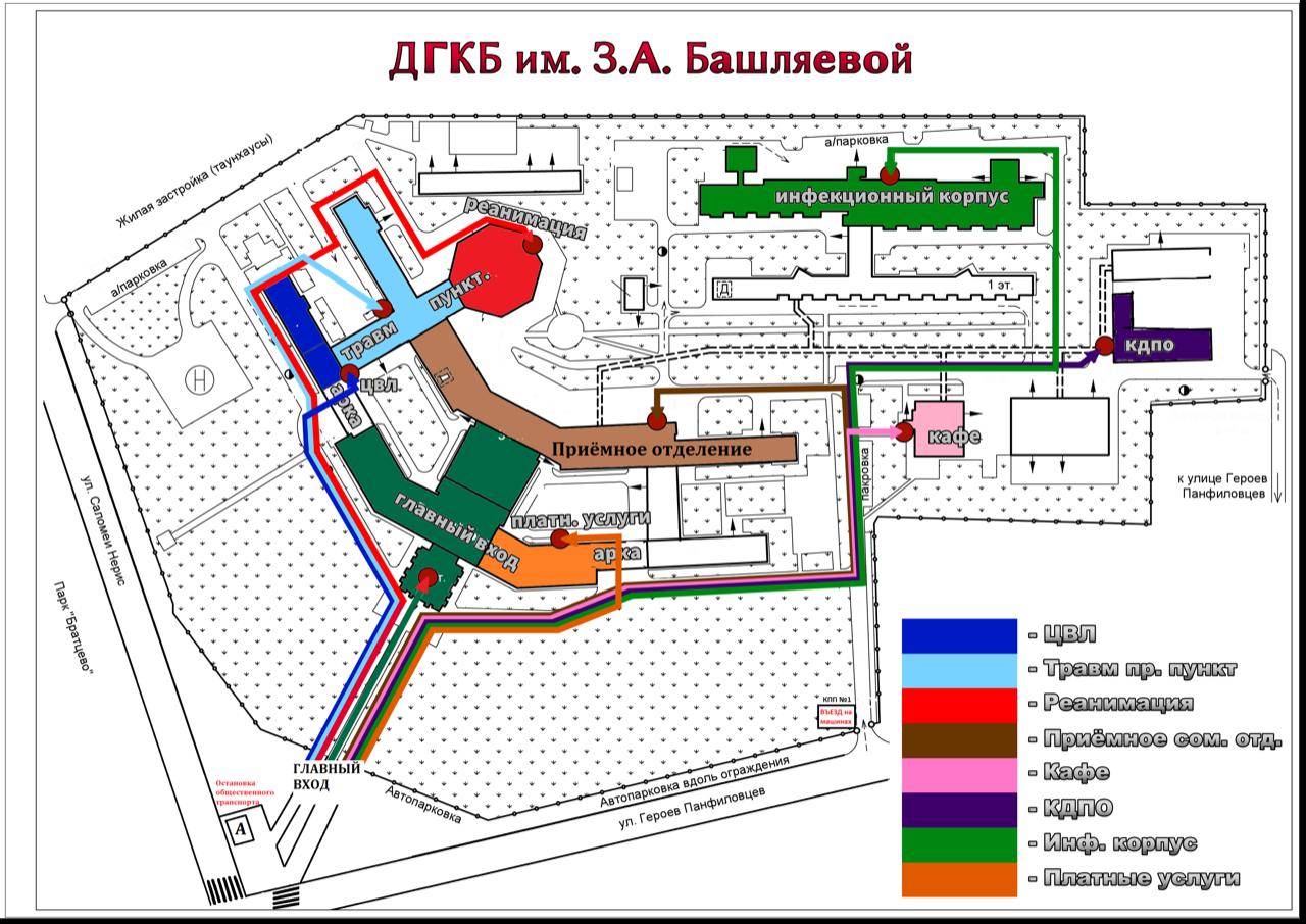 Детская морозовская больница схема корпусов