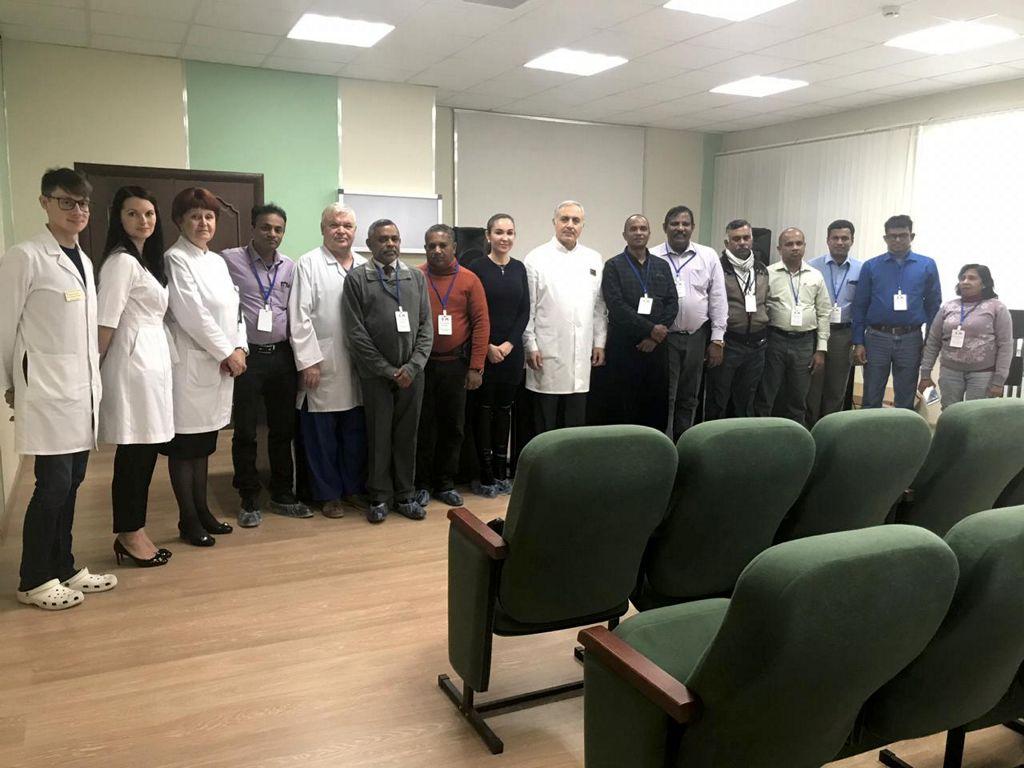 Делигация докторов из республики Шри-Ланка посетила нашу больницу с дружественным визитом