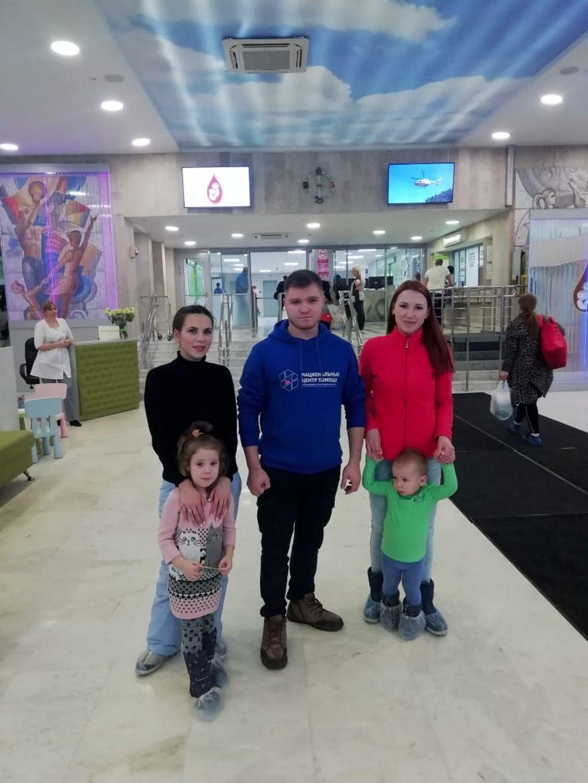 """Продолжают возвращаться домой дети из Магаданской области, прошедшие лечение в нашей больнице по программе Национального центра помощи детям """"Область здоровья""""."""