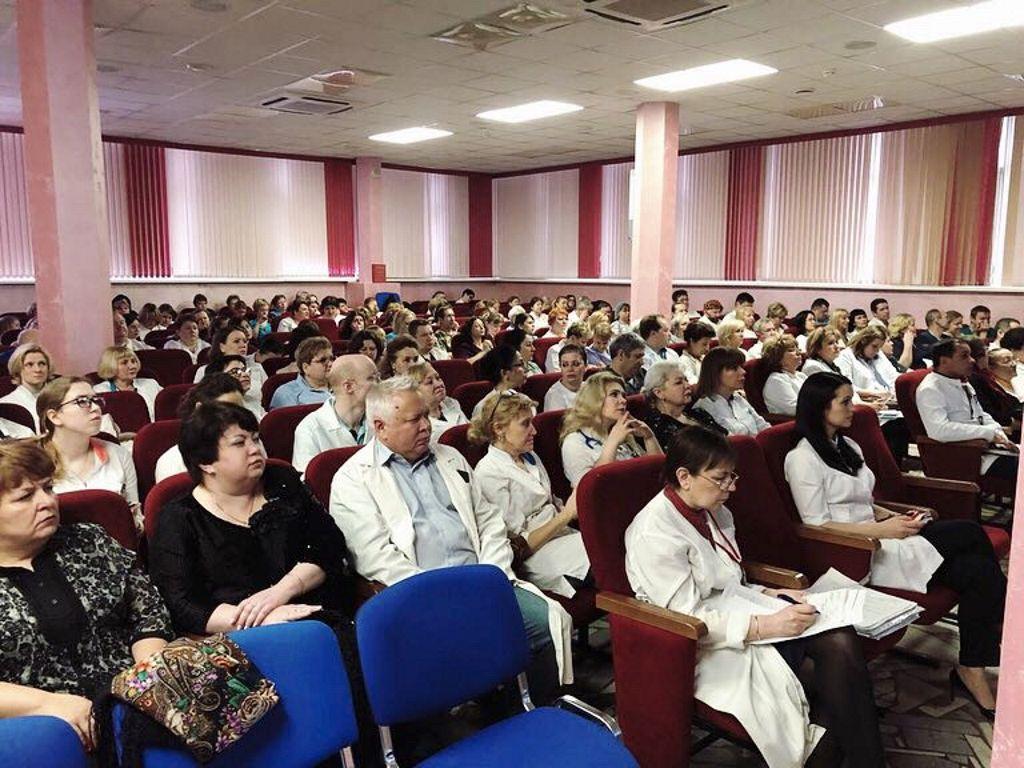 годовой отчёт главного врача перед сотрудниками больницы