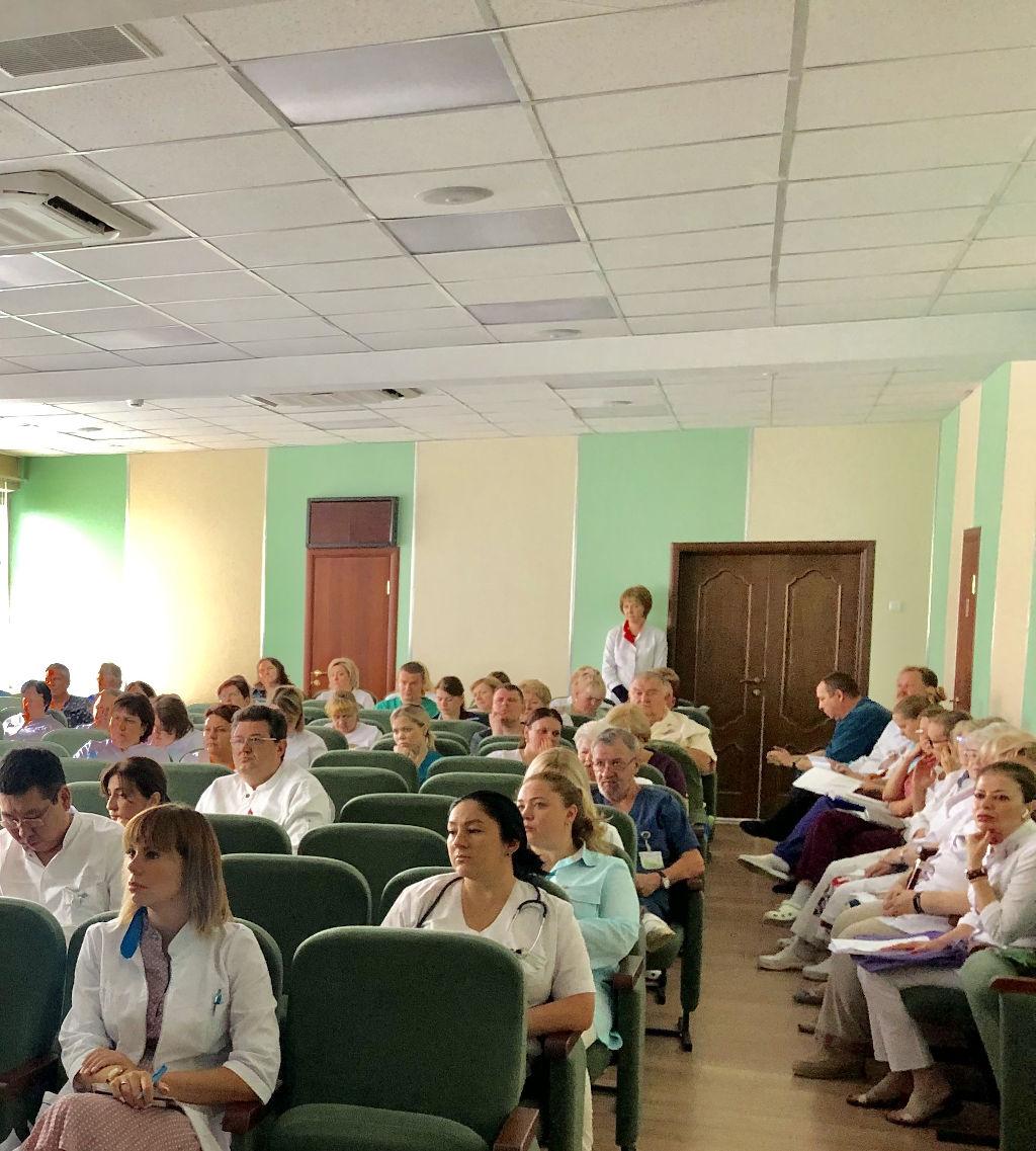 Сегодня на общебольничной врачебной конференции заведующая эндоскопическим отделением Кошурникова А.С. представила доклад по материалам 19-й Международной конференции стандарты и инновационные технологии в Эндоскопии пищеварительной системы