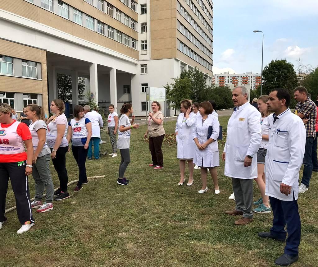 очередной этап сдачи норм ГТО сотрудниками больницы