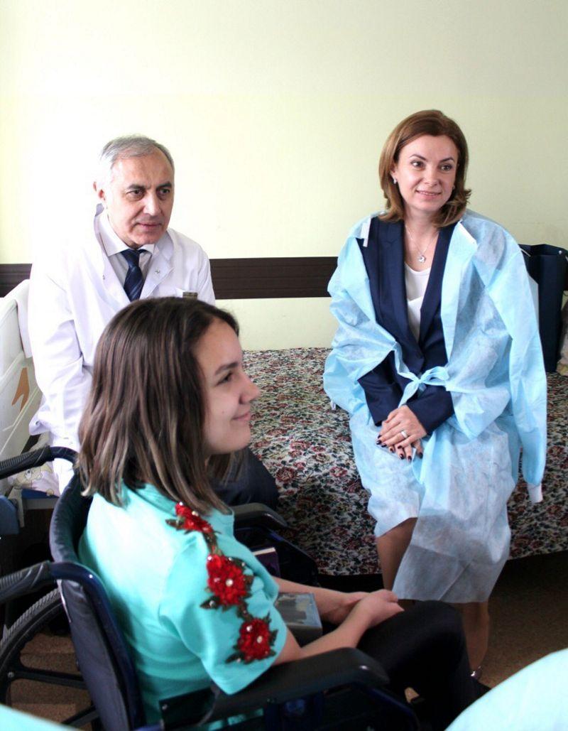 Галина Додон в больнице