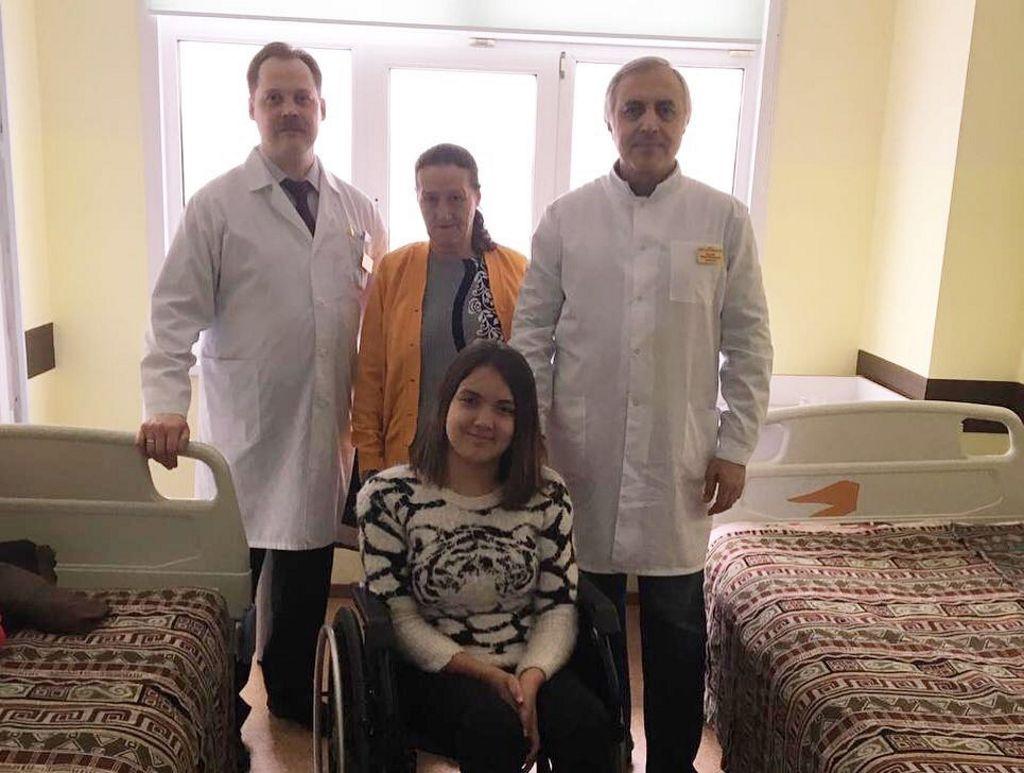 Сегодня выписали домой девочку Магдалену из Молдавии