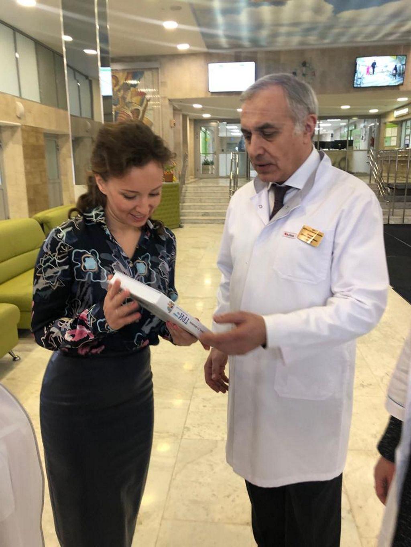 Вчера нашу больницу посетила уполномоченный при Президенте Российской Федерации по правам ребёнка Анна Юрьевна Кузнецова.