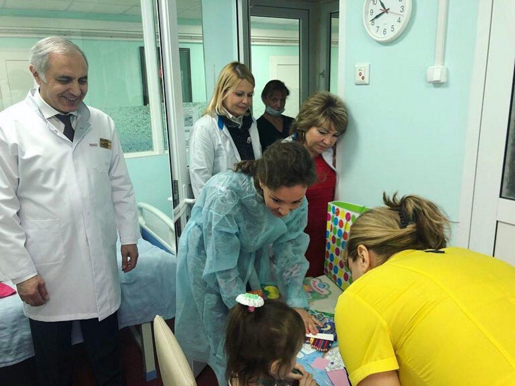 Посещение больницы уполномоченной при Президенте Российской Федерации по правам ребёнка Анной Юрьевной Кузнецовой