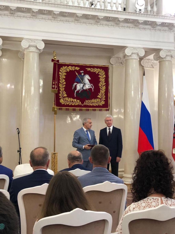 11 июня Мэр Москвы С. С. Собянин вручил государственные награды москвичам в канун Государственного праздника Дня России.