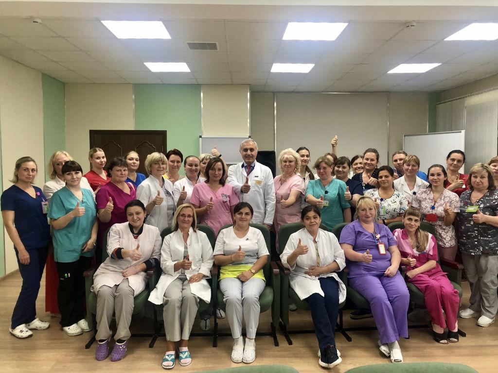 общебольничная конференция с медицинскими сёстрами