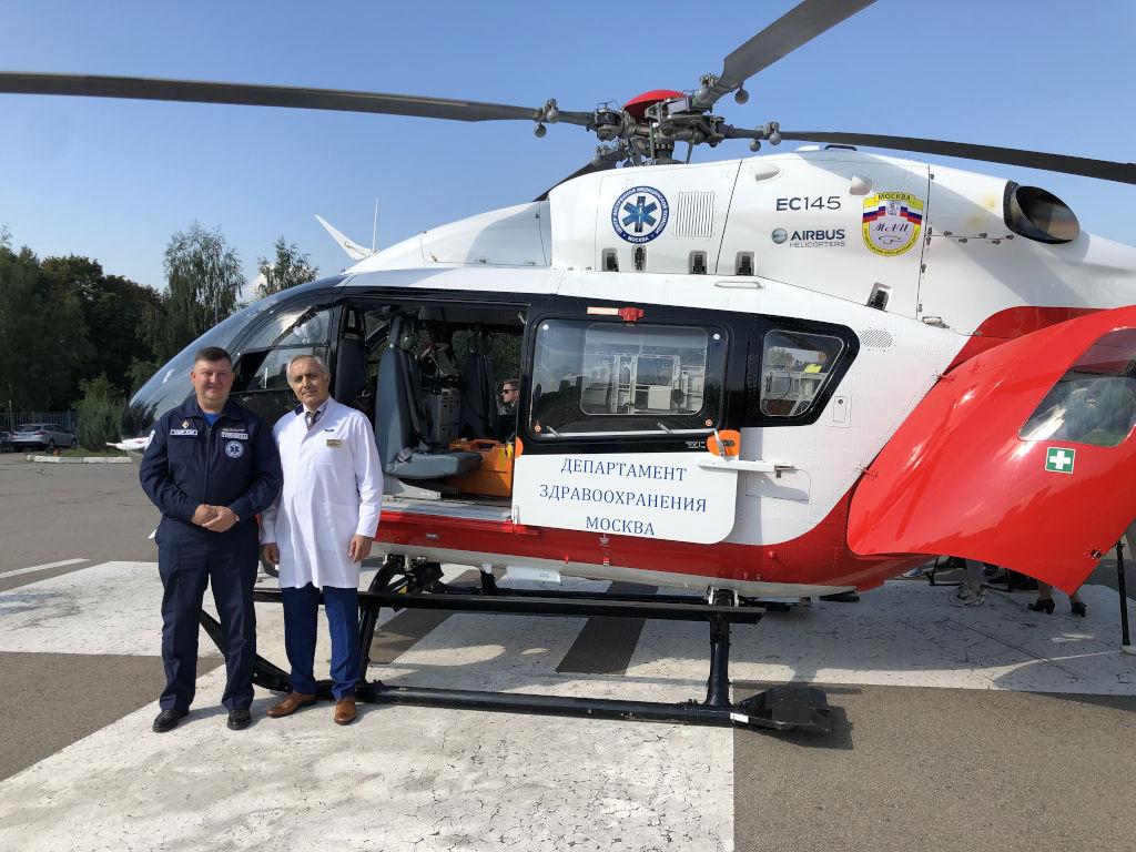 стартовала работа авиационной бригады центра экстренной медицинской помощи Департамента здравоохранения г.Москвы