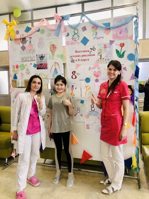 В нашей больнице прошла выставка детских рисунков, посвященная Международному женскому дню – «8 Марта»