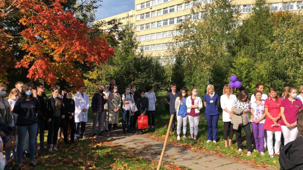 В рамках акции «Лес Победы» посадили 50 саженцев сосны